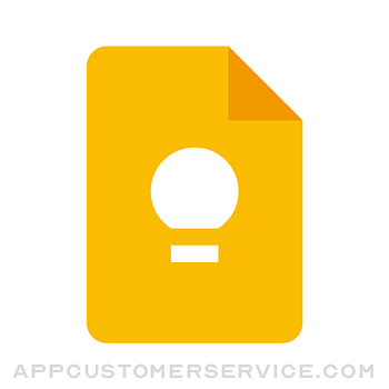 Google Keep - Notes and lists Customer Service