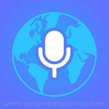 Voice Translator App. Customer Service