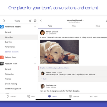 Microsoft Teams ipad image 3