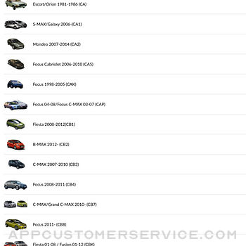 Car parts for Ford ipad image 3