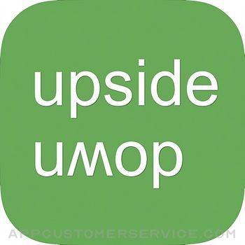 Upside Down Text Customer Service