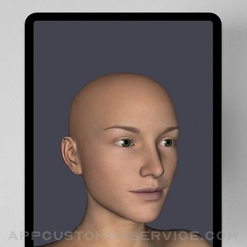 Face Model -posable human head ipad image 1