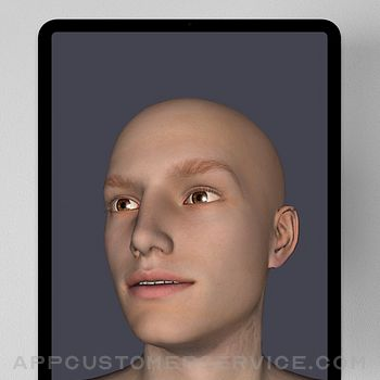 Face Model -posable human head ipad image 2