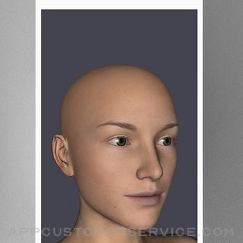 Face Model -posable human head iphone image 1
