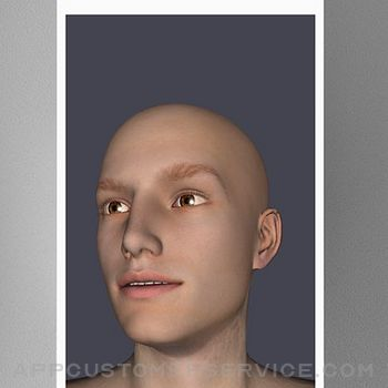 Face Model -posable human head iphone image 2
