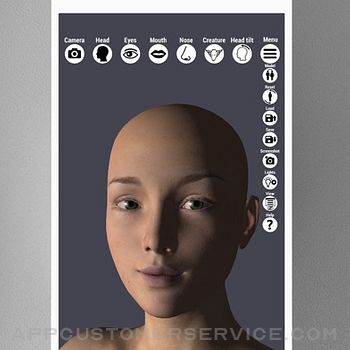 Face Model -posable human head iphone image 3