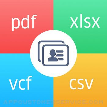 Contacts to Excel , PDF , CSV Customer Service
