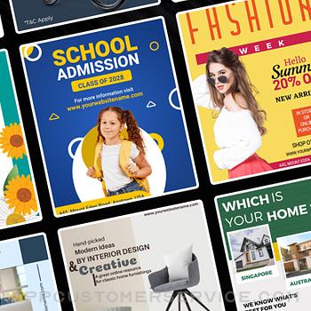 Flyer Maker Poster Maker iphone image 2