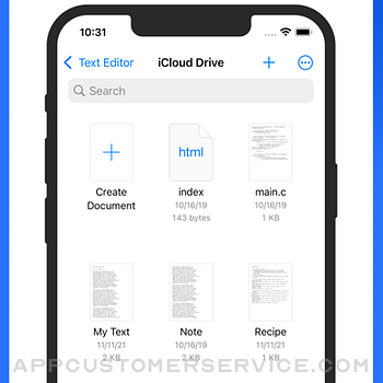 Text Editor. iphone image 2