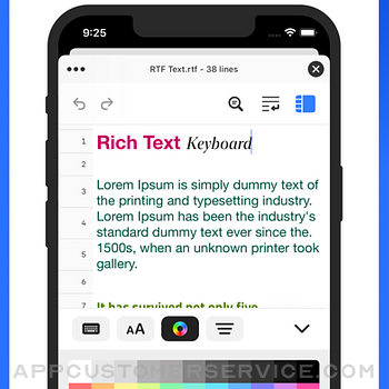 Text Editor. iphone image 3