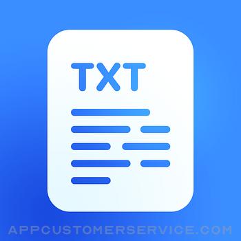 Text Editor. Customer Service