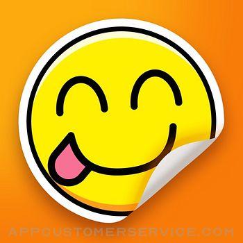 Stickers Funny of Meme & Emoji Customer Service