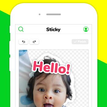 Sticky - Memes & Sticker Maker iphone image 1