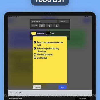 Sticky Notes Widget ipad image 2