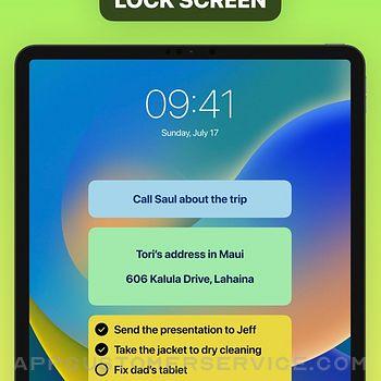 Sticky Notes Widget ipad image 3