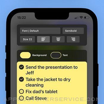Sticky Notes Widget iphone image 2