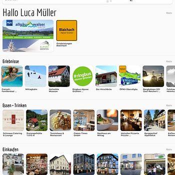 Allgäu Walser App ipad image 3