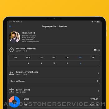 CMiC Employee Self Service ipad image 1