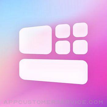 Colorful Widget-Home Screen Customer Service