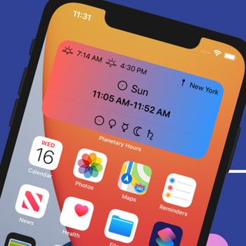 Planetary Hours Widget iphone image 1