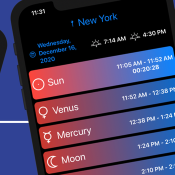 Planetary Hours Widget iphone image 2