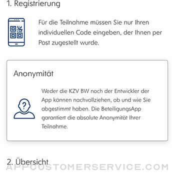 Beteiligungsapp KZVBW iphone image 2