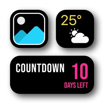 Widget | Countdown & photo Customer Service