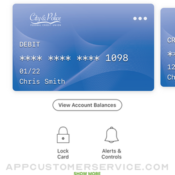City & Police FCU Card Manager iphone image 2
