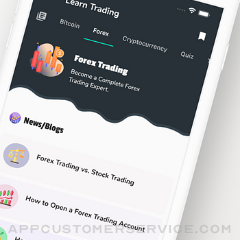 Learn Bitcoin & Forex Trading iphone image 2