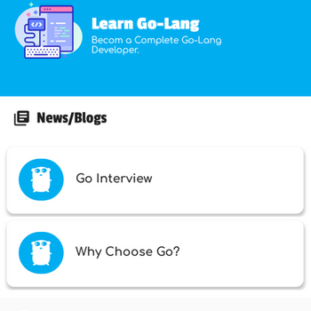 Learn Go Lang, Go Tutorials iphone image 1