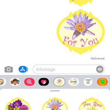 Flowers for you stickers! iphone image 2