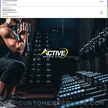 Active Sports Club Passbokning ipad image 1