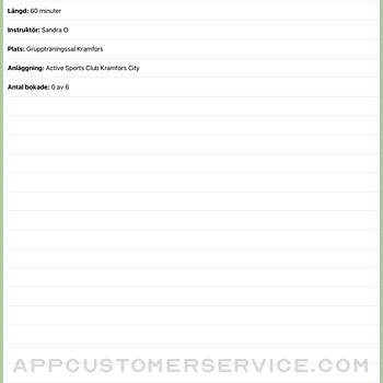 Active Sports Club Passbokning ipad image 2