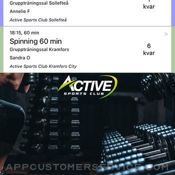 Active Sports Club Passbokning iphone image 1