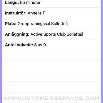 Active Sports Club Passbokning iphone image 2