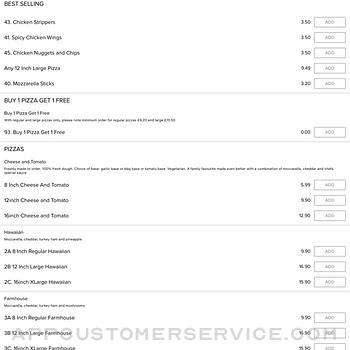 Caspian Pizza Worcester Town ipad image 2