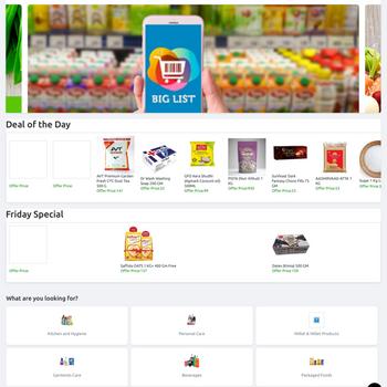 Biglist - Online Store ipad image 1