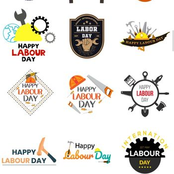 Labour Day Stickers ipad image 3