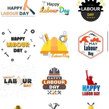 Labour Day Stickers iphone image 1