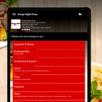 Amigo Night Pizza Heilbronn ipad image 2
