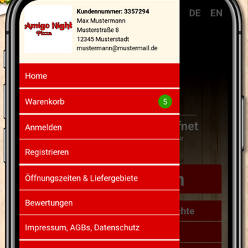 Amigo Night Pizza Heilbronn iphone image 3