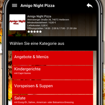 Amigo Night Pizza Heilbronn iphone image 4