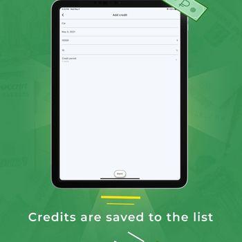 Credit payments calculator ipad image 2