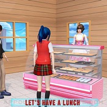 Anime Girl Yandere School Life iphone image 2