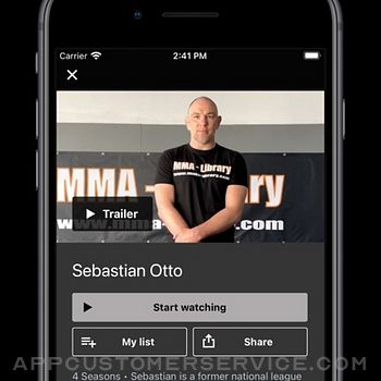 MMA Library iphone image 4
