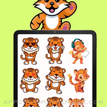 Baby Tiger Stickers! ipad image 1