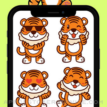 Baby Tiger Stickers! iphone image 1