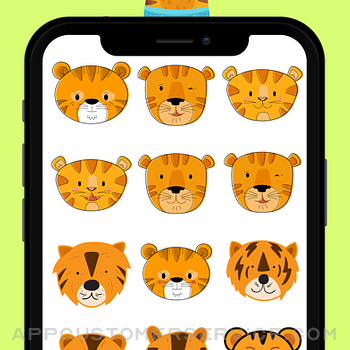 Baby Tiger Stickers! iphone image 3
