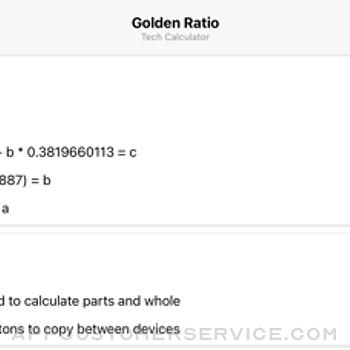 Golden Ratio Tech Calculator iphone image 3