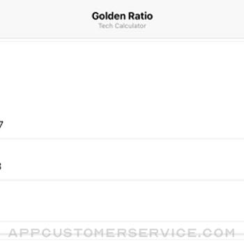 Golden Ratio Tech Calculator iphone image 4